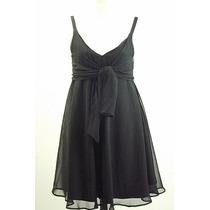 Pr-divino Vestido Negro Tela Tipo Gasa-muy Buen Diseño