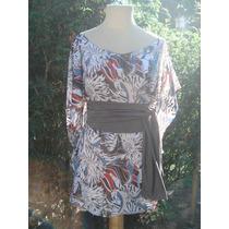 Diseño De Autor-camisola / Kymono Faja De Modal A La Cintura