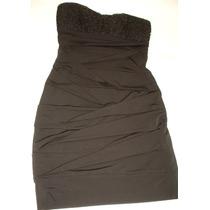 Vestido Ruby Rox T/ S Spandex Negro Aplicacion Encaje Lentej