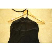 Vestido Negro Azabache Marca Kill T.2 Se Ata Al Cuello Mira