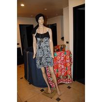 47 Street Vestido De Gasa Estampado Talle 2 Promo
