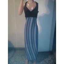 Vestidos Soleros Combinado Largos De Gasa T L A Xxxl $ 690