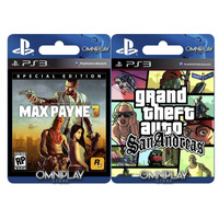 Max Payne 3 + Gta San Andreas Ps3- Digital- Omniplay Store