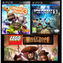 Little Big Planet 3 + Lego Piratas + Mickey / Ps3 / Pack X 3