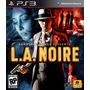 La Noire Ps3 Digital Original Psn + Gta Vice City De Regalo