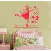 Vinilo Pared Infantiles Hada Nena Decoración Wall Stickers