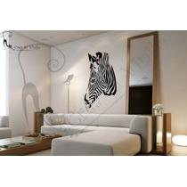 Vinilo Cebra Cabeza; Decoracion De Pared, Interiores 60x70