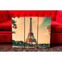 Cuadros Modernos Paris Vintage Retro Paisajes. Torreo Eiffel