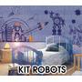 Vinilos Decorativos Infantiles Kit Robots, Piratas Medianos