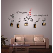 Vinilo Pared Fotos Y Pajaros Decoración Wall Stickers