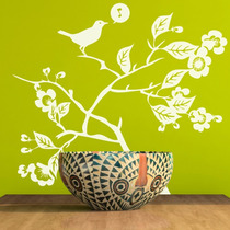 Vinilos Decorativos Looma, Árbol, Ramas, Pájaros, Naturaleza