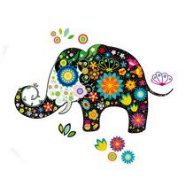 Vinilo Decorativo Adhesivo Elefante Negro