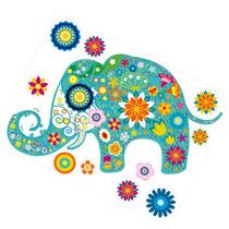 Vinilo Decorativo Adhesivo Elefante Turquesa