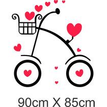 Vinilo Pared Infantiles Bici Nena Decoración Wall Stickers