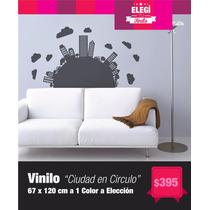 Vinilo Decorativo - Ciudad Circular - Decorá Tus Paredes