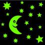 Luna Y Estrellas 1.7m2 Vinilo Decorativo Brilla En Oscuridad