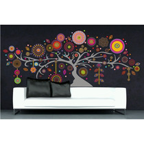 Arbol Ombu Mandalas, Vinilo Decorativo Multi Color, 240 Cm
