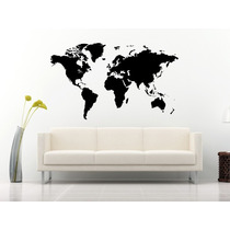 Bondai Vinilos Decorativos Skylines Mapa Mundo Mundi