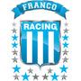 Vinilo Escudo Racing Con Tu Nombre Personalizado