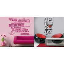 Vinilos Frases Y Decoraciones En Paredes Diseños Nuevos!!!