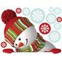 Vinilo Decorativo Adhesivo Muñeco Navidad . Med.30x40