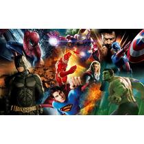 Mural Superheroes 200 X 120cm. Autoadhesivo