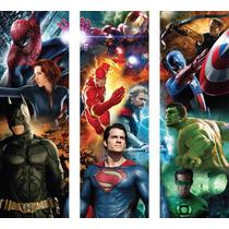 Mural Superheroes Tríptico 150 X 150 Cm, Autoadhesivo