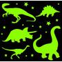 Set Dinosaurios 1.4 M2 Vinilo Infantil Brilla En Oscuridad