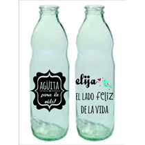 Etiquetas Frascos Botellas Transp. Pack X12un. 10x10.5 Cm