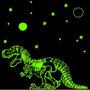 Dinosaurio 2.7 M2 Vinilo Deco Infantil Brilla En Oscuridad