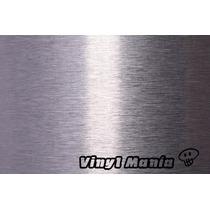 Vinilo Simil Aluminio Cepillado 60cm X 50cm - Tuning Sport