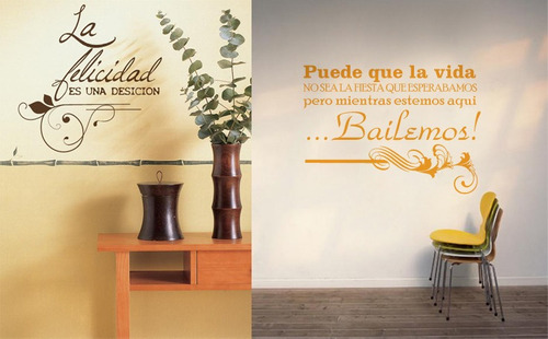 Felicidad citas pinterest for Vinilos para nenas