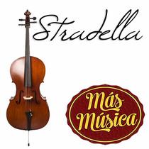 Stradella Mc601744 Violoncello 4/4 Macizo Tapa Pino