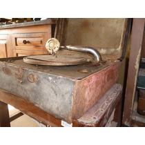 Antigua Vitrola De Chapa Funcionando