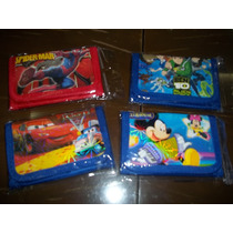 Billetera De Cars, Spider, Mickey Y Ben 10