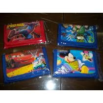 Billetera De Cars, Spider, Mickey Y Ben 10