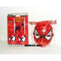 Walkie Talkie De Spiderman + Mascara Con Luces Hombre Araña