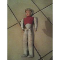 Muñeca Antigua Rellena De Estopa Articulada En Brazos Y Pier