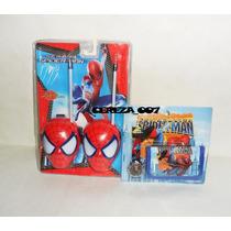 Walkie Talkie De Spiderman Hombre Araña + Reloj Billetera Sp