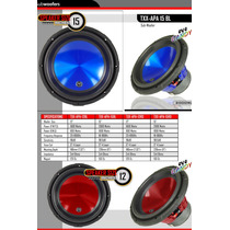 Subwoofer Audio Pipe Txx-apa 15 1000rms Doble Bobina
