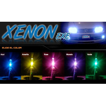Kit De Luces Bi Xenon Rosa Azul Verde Pink Blue Green