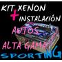 Kit De Luces Xenon Autos Alta Gama H1 H3 H4 H7 H11 Instalado