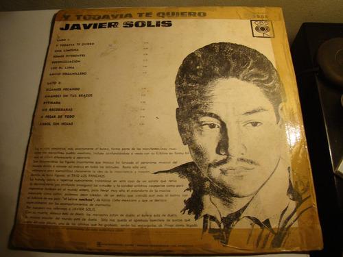 Y Todavia Te Quiero Javier Solis-vinilo