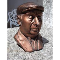 Pablo Neruda Escultura Yesoypinturacobriza Alt21cm Noenvío