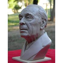 Busto De Jorge Luis Borges, Hermosa Escultura Del Escritor .