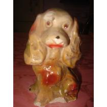 Antigua Escultura De Yeso.figura Perrito. Restaurar