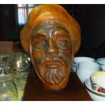 Transferir - Busto, Escultura Gaucho En Piedra Y Base 32 Cm