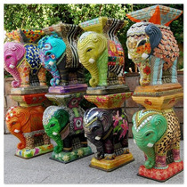 Elefantes De Yeso Decorados A Mano 48cm Fabricantes Rosario