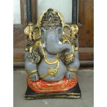Oferta Elefante Indu Ganesha 14 Cm Blanco Yeso Para Pintar