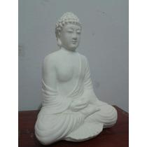 Hermoso Buda Sentado Meditando 21 Cm Yeso